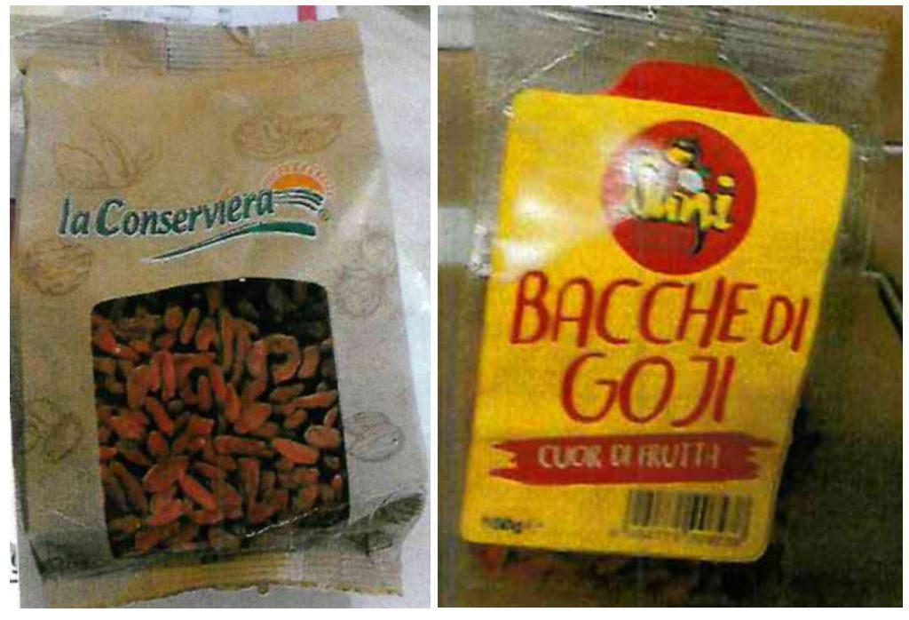Bacche di Goji ritirate per presenza di insetticida e fungicida