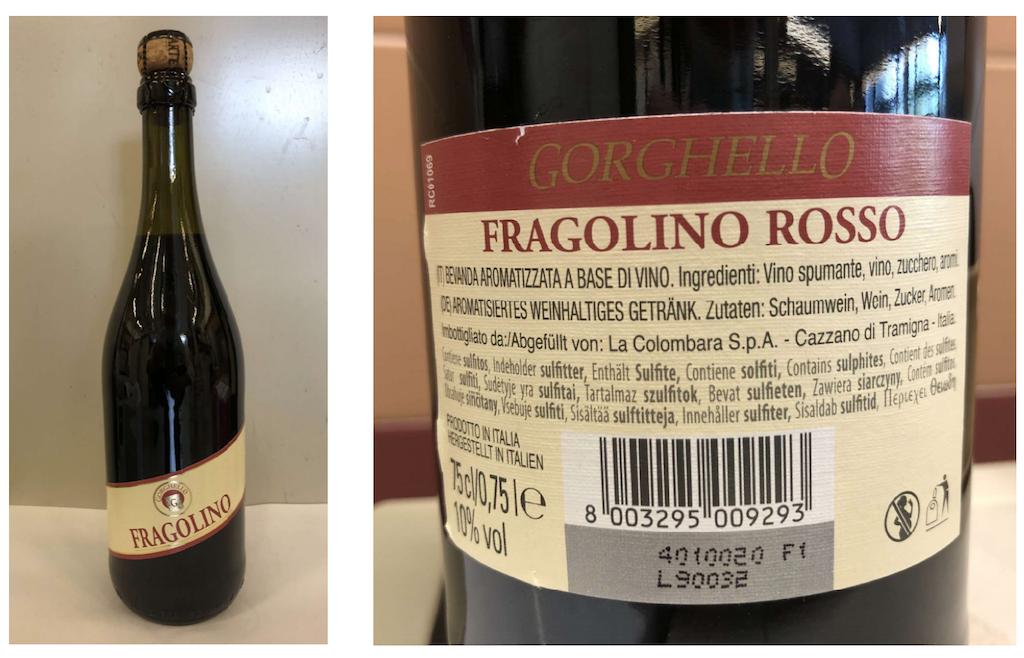 Fragolino rosso Gorghello richiamato per rischio chimico