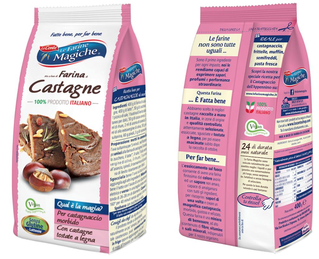 Mix a base di farina di castagne Lo Conte richiamato per rischio chimico