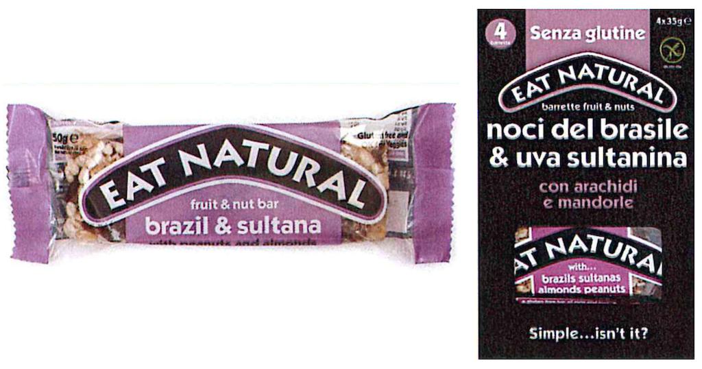 Barrette con noci del Brasile Eat Natural ritirate per sospetta presenza di salmonella