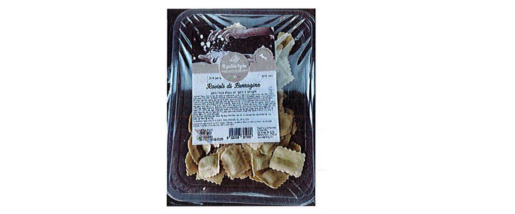 Ravioli di borragine del Pastaio Ligure richiamati per rischio microbiologico