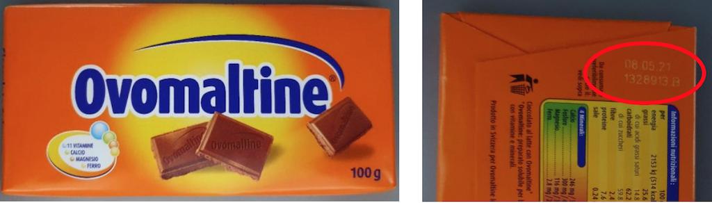 Cioccolato Ovomaltine richiamato per possibile presenza di plastica