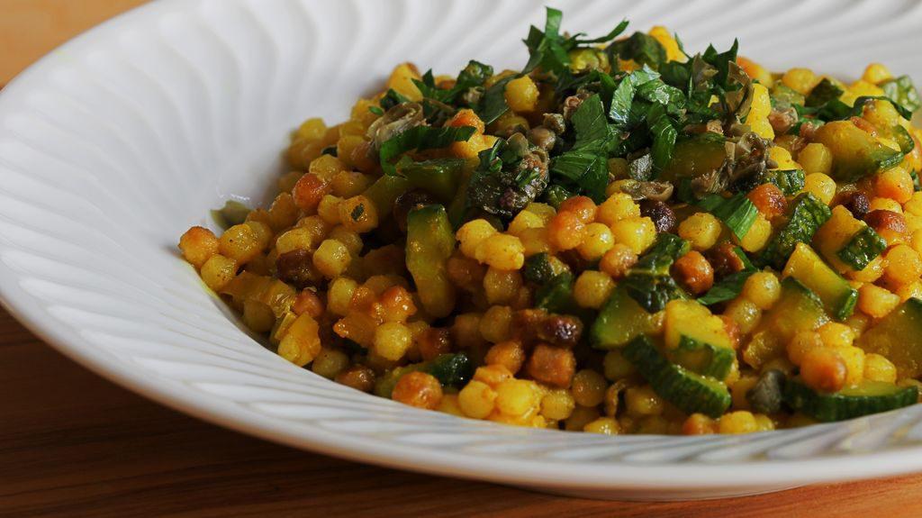 Fregola risottata con verdure