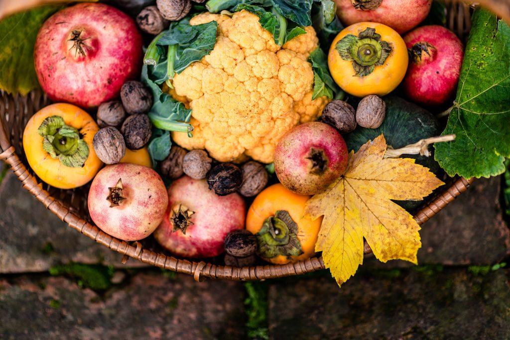 La spesa di ottobre, frutta e verdura di stagione