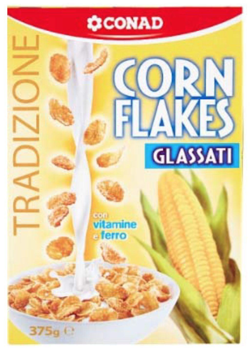 Corn Flakes glassati Conad richiamati per rischio presenza allergeni