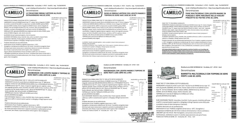 Prodotti da forno Il Panificio di Camillo, New Catering e Bassini 1963 richiamati per rischio chimico