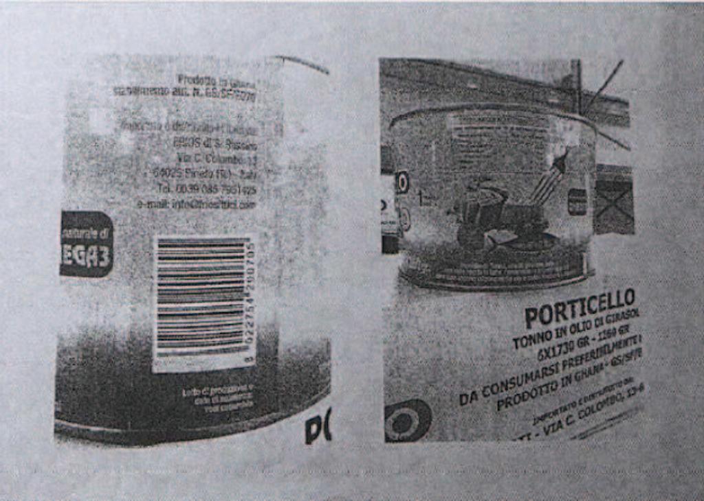 Tonno in olio di girasole Porticello richiamato per rischio microbiologico