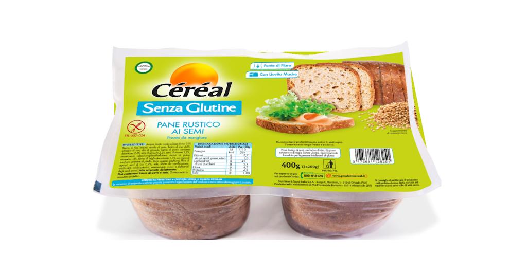 Richiamato il Pane rustico ai semi Céréal senza glutine per il sesamo contaminato