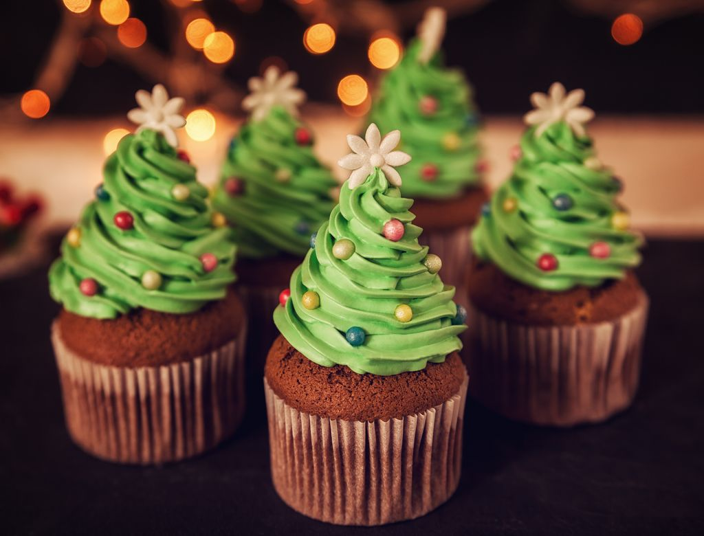 Tronchetto di natale Cupcake natalizi