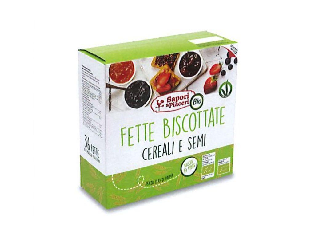 Richiamate le Fette biscottate cereali e semi di Sapori e piaceri per l'ossido di etilene nel sesamo
