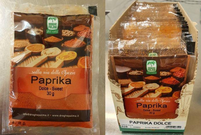 Richiamata dal mercato la paprika dolce per rischio chimico