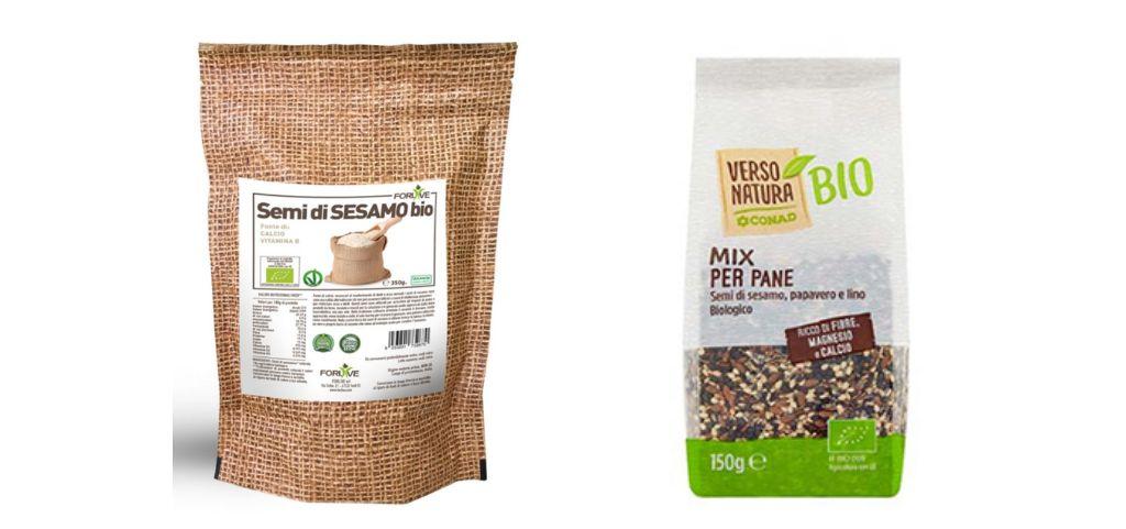 Ritirati i semi di sesamo a marchio Forlive e il mix per pane di Verso Natura Conad
