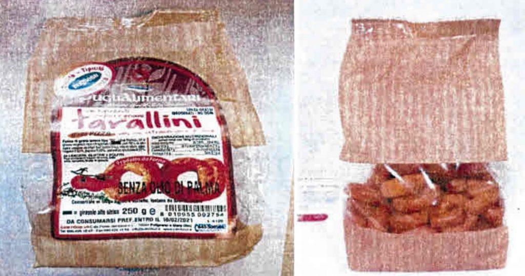 Tarallini alla pizza di Puglialimentari richiamati per rischio chimico