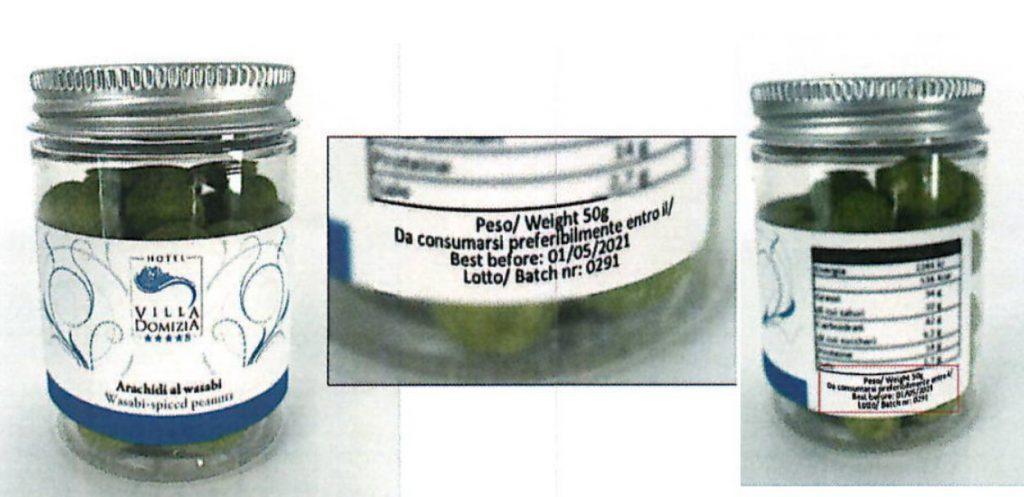 Arachidi al wasabi Taz Group richiamate per allergene non indicato in etichetta