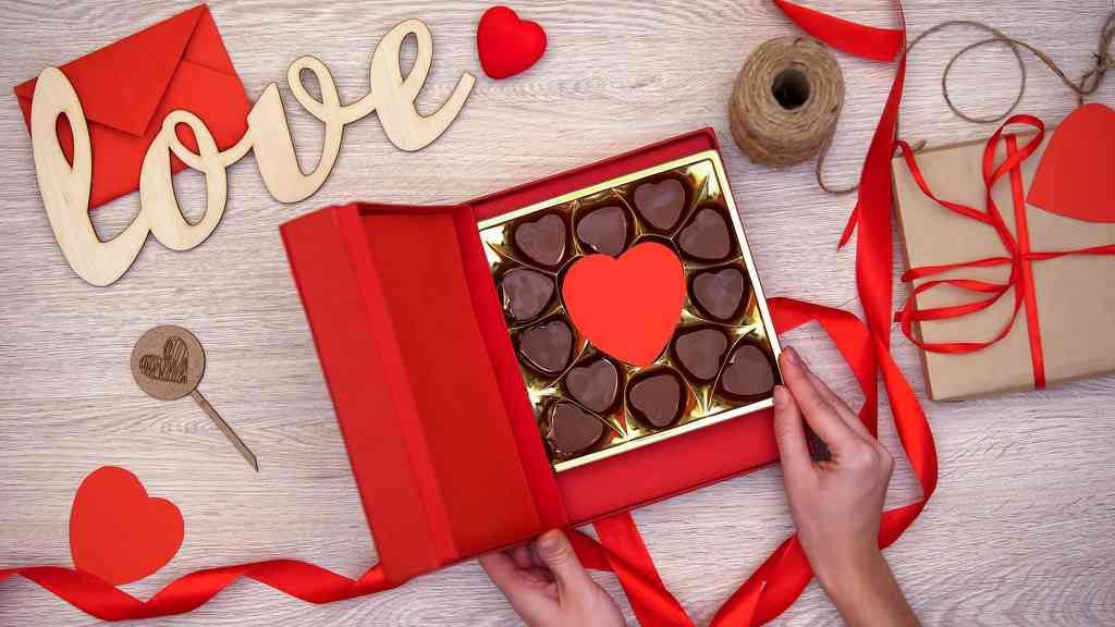 Scatola di cioccolatini per San Valentino