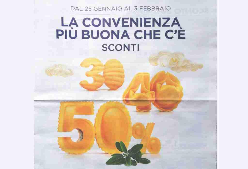Volantino Esselunga dal 25 gennaio al 3 febbraio: offerte fino al 50%