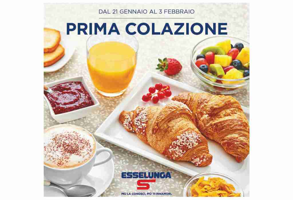 Volantino Esselunga dal 21 gennaio al 3 febbraio: le offerte per la Prima Colazione