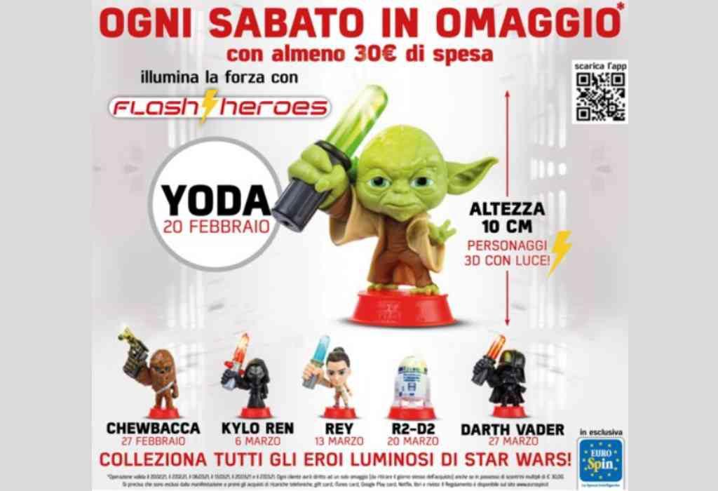 Eurospin e la collezione Star Wars, come ottenere i personaggi luminosi dal 20 febbraio al 27 marzo