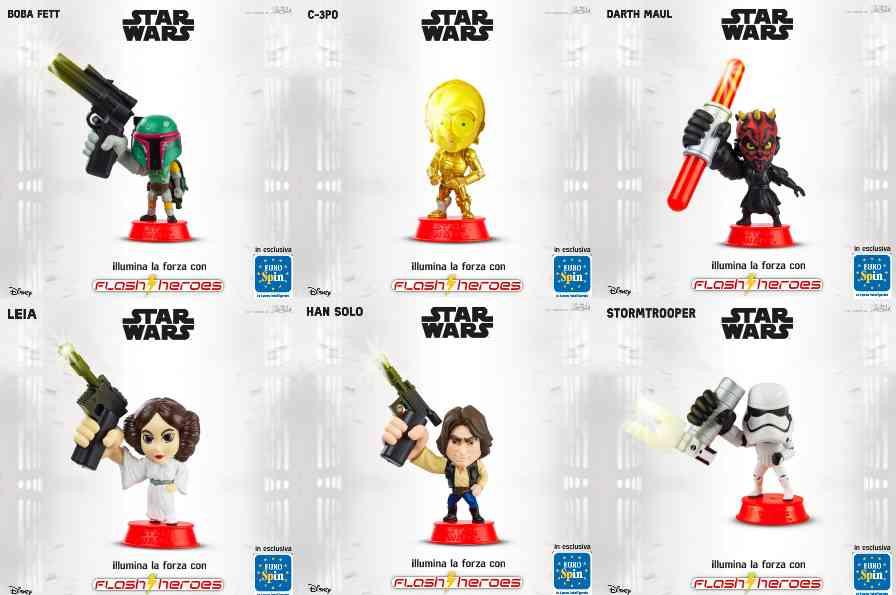 I personaggi di Star Wars Eurospin acquistabili