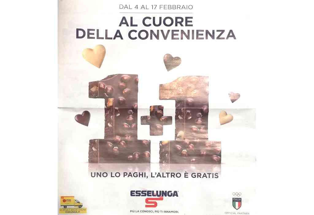 Volantino Esselunga dal 4 al 17 febbraio: offerte 1 + 1 uno lo paghi, l'altro è gratis