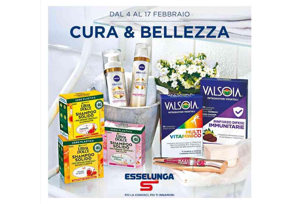 Volantino Esselunga Cura e Bellezza dal 4 al 17 febbraio, le offerte dedicate alla cura per il corpo