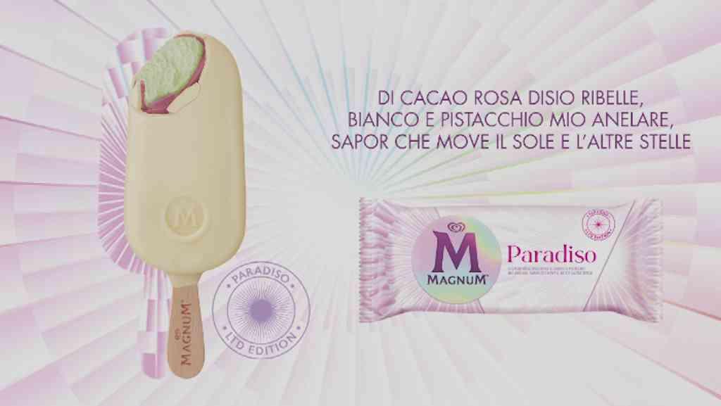 Magnum Paradiso, il terzo gelato Algida per Dante: il gusto, gli ingredienti e quando esce