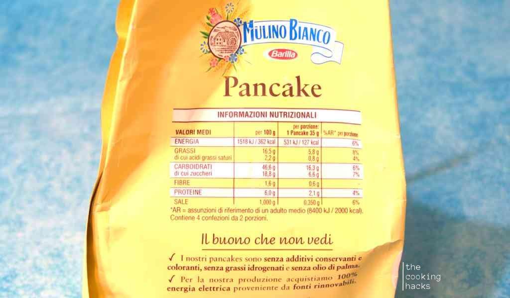Le calorie dei Pancake Mulino Bianco, i valori nutrizionali