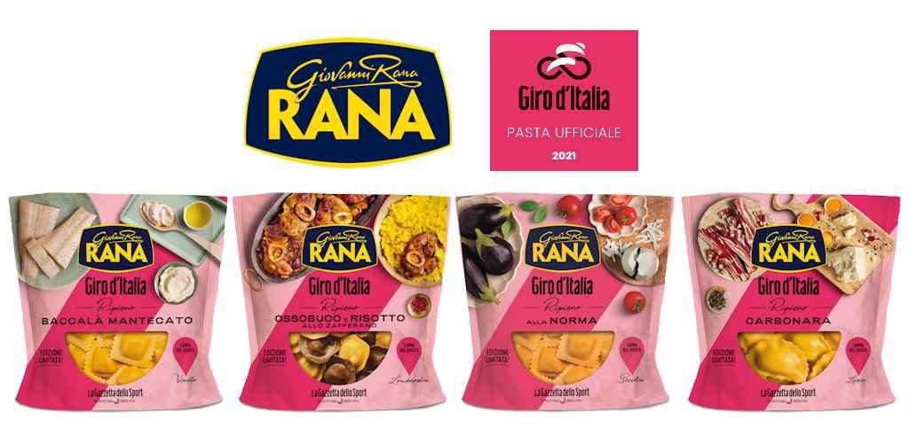 I ravioli Giovanni Rana celebrano il Giro D'Italia: in arrivo nuove ricette con le specialità regionali