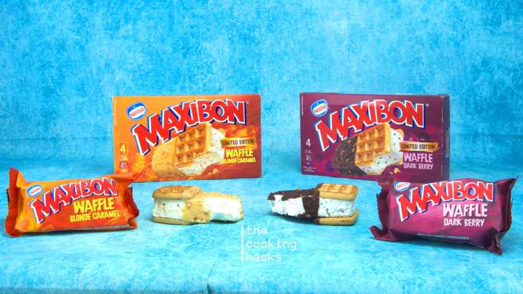 Maxibon Waffle Blond Caramel e Dark Berry: la prova