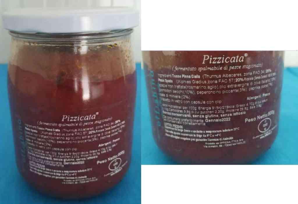 Richiamata conserva fermentata spalmabile di pesce stagionato per rischio chimico