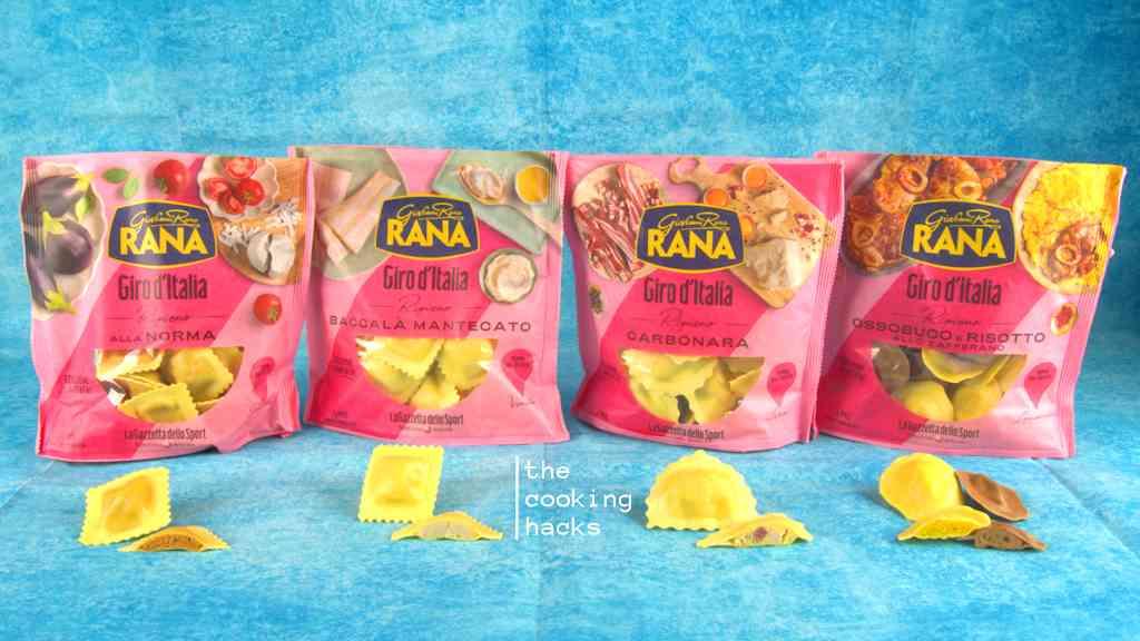 Le calorie dei ravioli Giovanni Rana Giro d'Italia e gli ingredienti