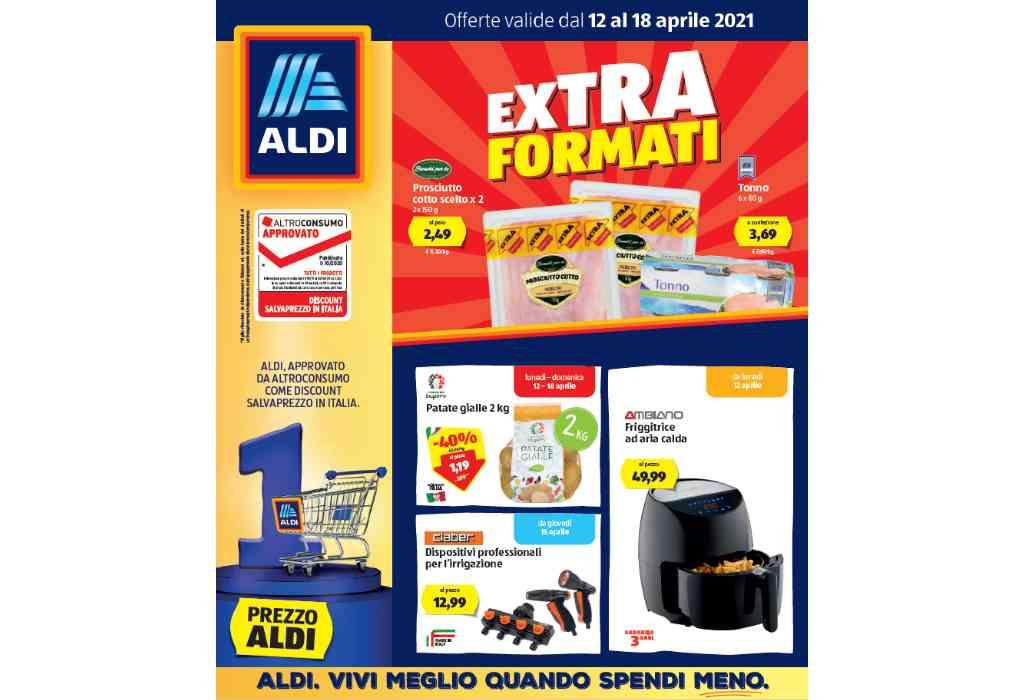 Volantino Aldi dal 12 al 18 aprile 2021: offerte Extra Formati