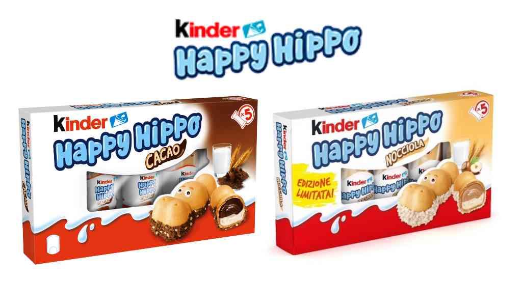 Kinder Happy Hippo: dove trovarli e il prezzo degli snack alla nocciola e cacao