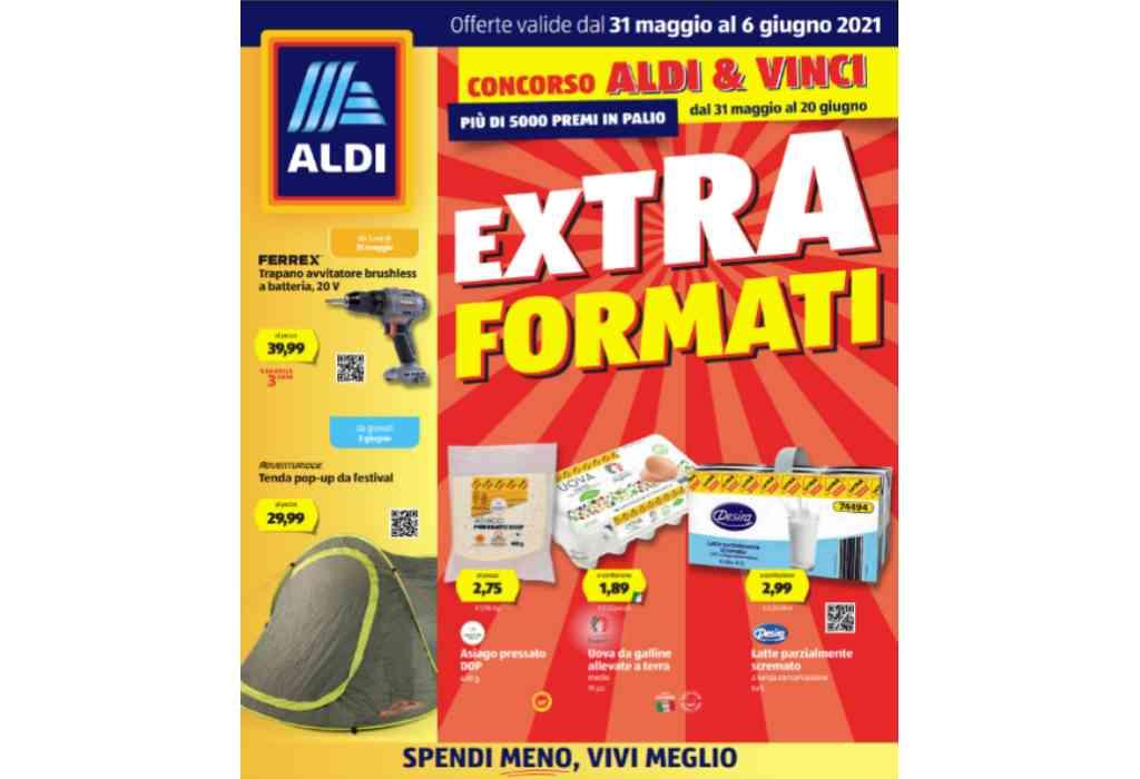 Volantino Aldi dal 31 maggio al 6 giugno 2021: offerte Extra Formati