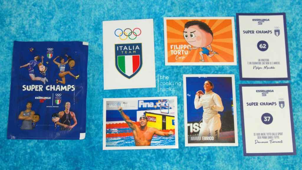 Le figurine della raccolta Esselunga per le Olimpiadi 2021