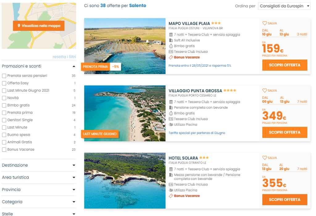Eurospin Viaggi: come prenotare