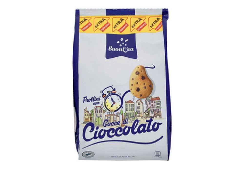 """Aldi richiama i Frollini con gocce di cioccolato extra formato 1 Kg """"Buon'Ora"""" per allergeni non dichiarati"""