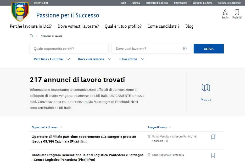 Lidl, come candidarsi