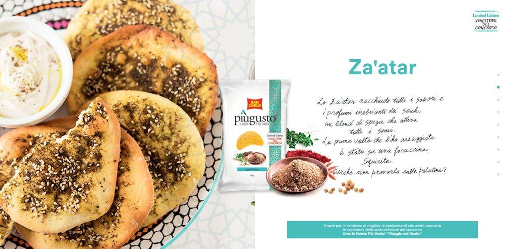 Patatine Più Gusto San Carlo Za'atar, gli ingredienti