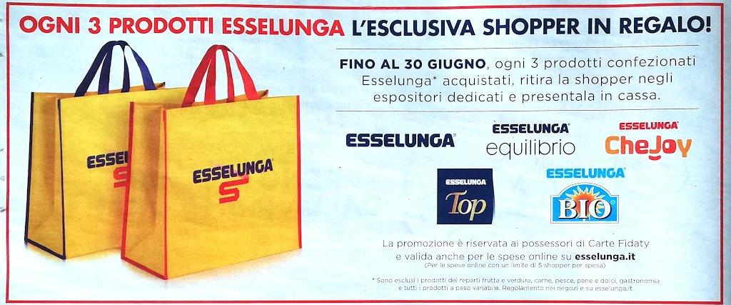 Shopper Esselunga in regalo