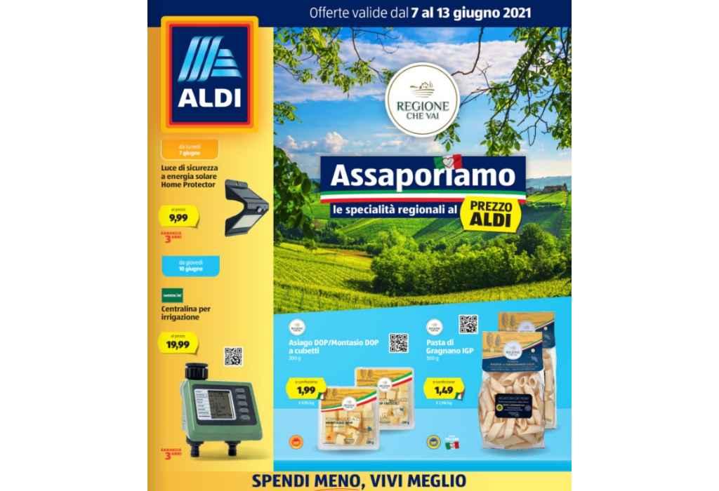 Volantino Aldi dal 7 al 13 giugno 2021: offerte Specialità regionali Italiane