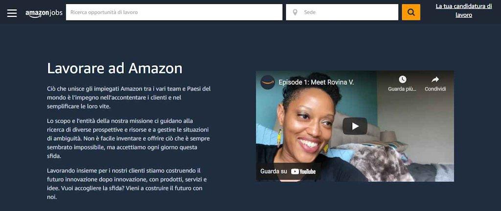 Amazon lavora con noi, candidatura spontanea