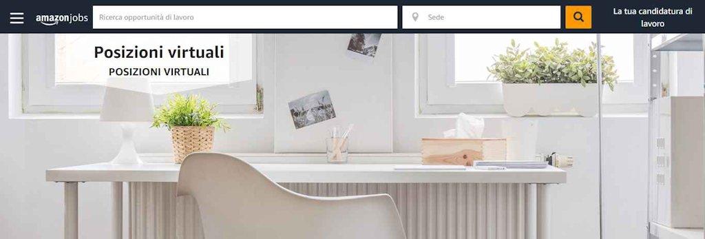 Amazon lavora con noi, opportunità professionali a distanza