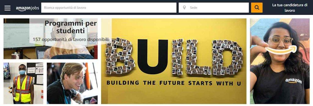Amazon lavora con noi, Opportunità per studenti