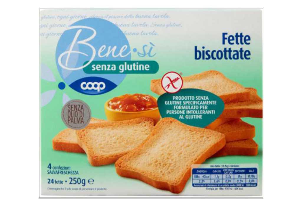 Coop richiama le Fette Biscottate Senza Glutine Benesì per ossido di etilene oltre i limiti