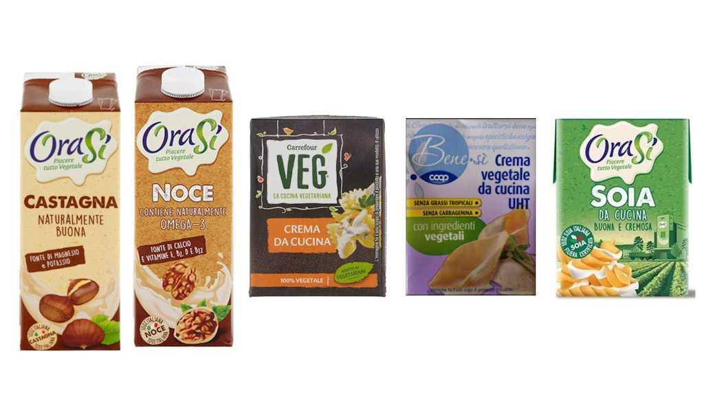 Richiamate crema vegetale da cucina Coop e Carrefour, bevanda vegetale alla noce e castagna e soia da cucina Orasì per ossido di etilene
