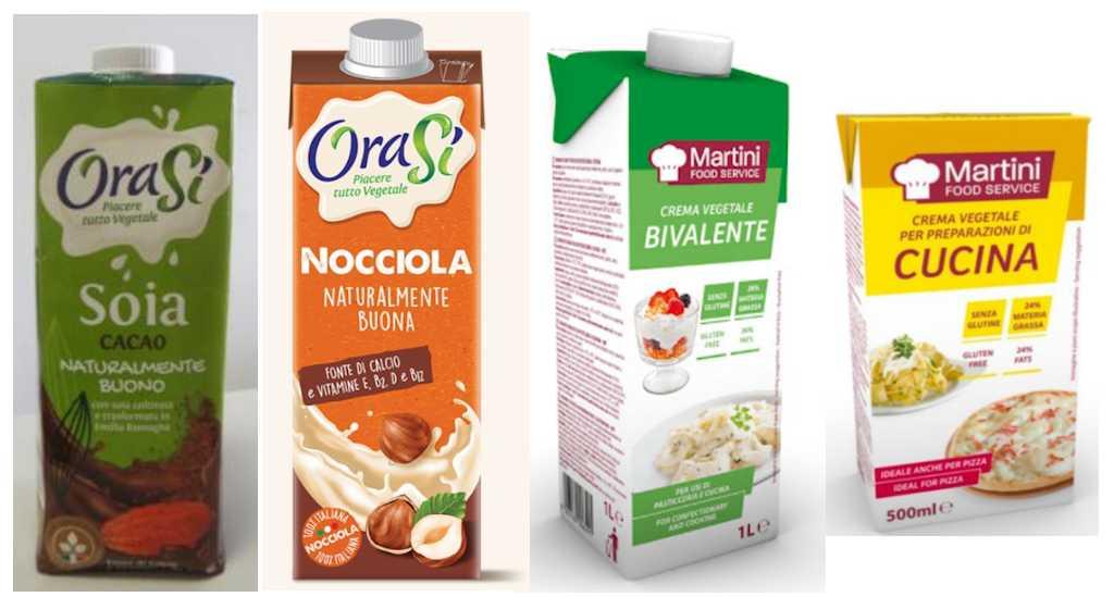 Ritirate le bevande Nocciola e quella Soia e Cacao Orasì e la crema vegetale Martini Food Service