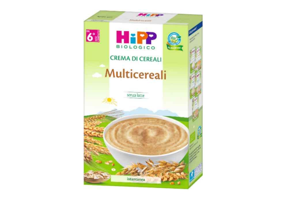 Ritiro precauzionale della Crema di cereali multicereali HIPP per sospetta presenza di soia, ma HIPP contesta le analisi