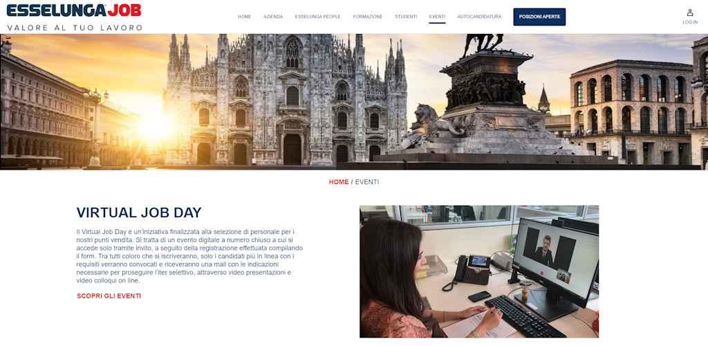 (Virtual) Job day Esselunga