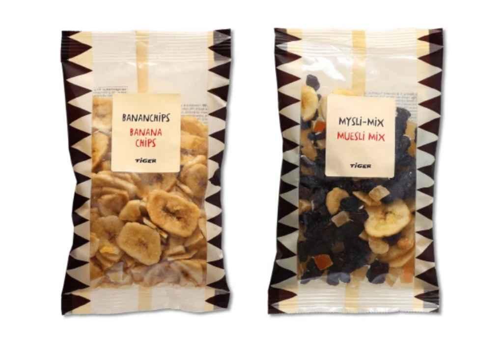 Flying Tiger Copenhagen richiama banana chips e muesli mix per possibile presenza di Salmonella